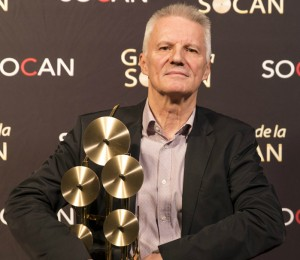 Editorial Avenue - Daniel Lafrance, winner of the Publisher of the Year Award at the Montréal SOCAN Gala 2017.