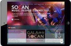 La SOCAN lance son tout nouveau site Web