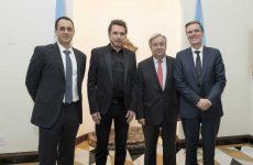 Le chef de la direction de la SOCAN rencontre le secrétaire général de l'ONU