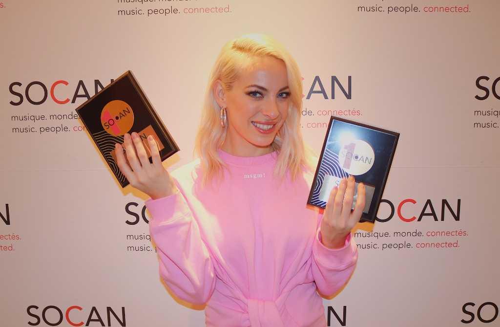 Deux Prix No. 1 SOCAN pour Marie-Mai