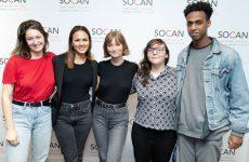 Les gagnants du Prix des jeunes auteurs-compositeurs de la Fondation SOCAN 2019 en prestation à la SOCAN