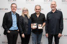Deux Prix No. 1 SOCAN à Nelson Minville