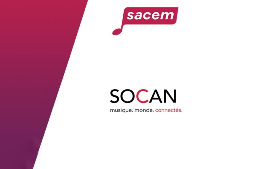 La SOCAN renouvelle son entente avec la Sacem