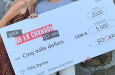 Prix de la Chanson SOCAN : Félix Dyotte reçoit son prix de 5000$
